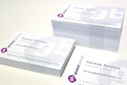 Design of business cards and branding material